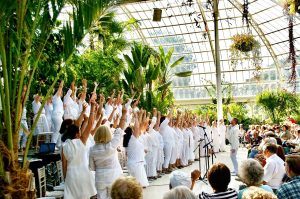 Singing at the Palm House